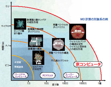 MD計算の対象系の例