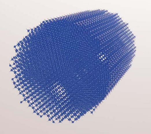 シリコンナノワイヤの原子モデル